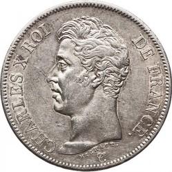 Moneta > 5franchi, 1824-1826 - Francia  - obverse