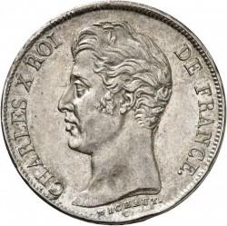 العملة > ١فرنك, 1825-1830 - فرنسا  - obverse
