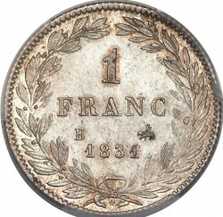 Moneta > 1franco, 1831 - Francia  - reverse