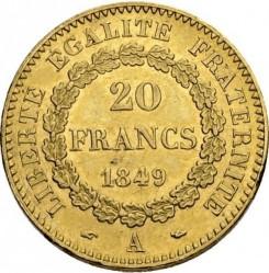 Minca > 20francs, 1848-1849 - Francúzsko  - reverse