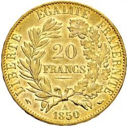 Minca > 20francs, 1849-1851 - Francúzsko  - reverse