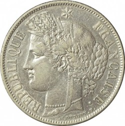 Minca > 5francs, 1849-1851 - Francúzsko  - obverse