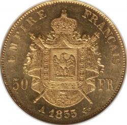 Moneta > 50franków, 1855-1859 - Francja  - reverse