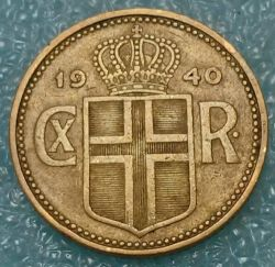 Coin > 1krona, 1925-1940 - Iceland  - obverse