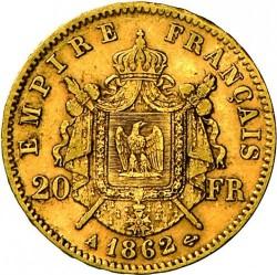 מטבע > 20פרנק, 1861-1870 - צרפת  - reverse