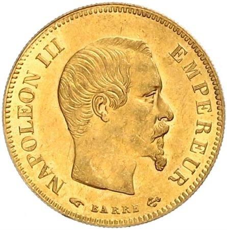 10 Franken 1854 1855 Frankreich Münzen Wert Ucoinnet