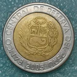 Moneta > 5naujiejisolai, 2005 - Peru  - obverse