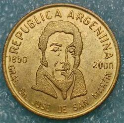 Moneda > 50centavos, 2000 - Argentina  (150 Aniversario - Muerte de José de San Martín) - obverse