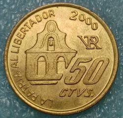 Moneda > 50centavos, 2000 - Argentina  (150 Aniversario - Muerte de José de San Martín) - reverse