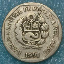 Moneta > 50centesimi, 1991-2000 - Perù  - obverse