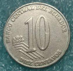 Moneta > 10sentavų, 2000 - Ekvadoras  - obverse