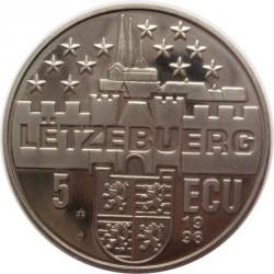 Moneta > 5ECUs, 1996 - Lussemburgo  (Charlotte) - obverse