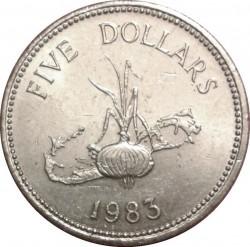 Moeda > 5dólares, 1983 - Bermudas  - reverse