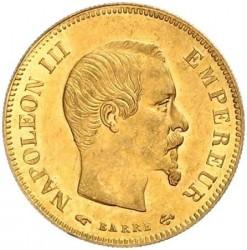 Moneta > 10franków, 1855-1860 - Francja  (Diameter 19mm) - obverse