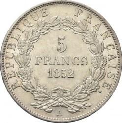 Moneta > 5franków, 1852 - Francja  - reverse