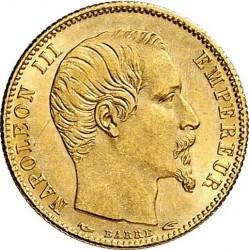 Moneta > 5franchi, 1854-1855 - Francia  - obverse