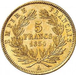 Moneta > 5franchi, 1854-1855 - Francia  - reverse