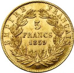 Moneta > 5franków, 1856-1860 - Francja  - reverse
