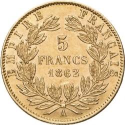 Монета > 5франков, 1862-1869 - Франция  - reverse