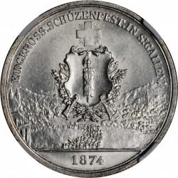 Moneta > 5franchi, 1874 - Svizzera  (Festival del Tiro di San Gallo) - obverse
