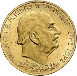 Moneda > 20perpera, 1910 - Montenegro  - obverse
