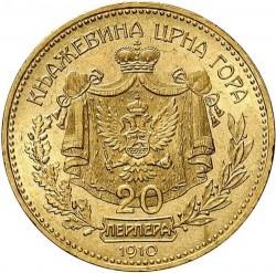 Moneda > 20perpera, 1910 - Montenegro  - reverse