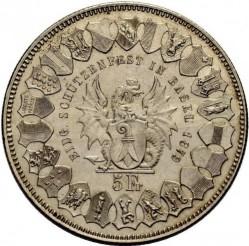 Moneta > 5franchi, 1879 - Svizzera  (Festival del Tiro di Basilea) - reverse