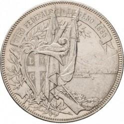 Moneta > 5franchi, 1883 - Svizzera  (Festival del Tiro di Lugano) - obverse