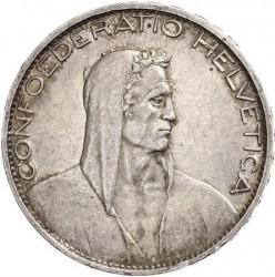 錢幣 > 5法郎, 1924-1928 - 瑞士  - obverse