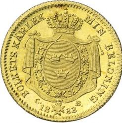 Monēta > 1dukat, 1830-1834 - Zviedrija  - reverse