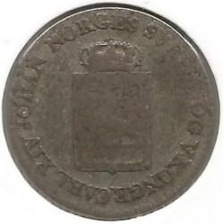 Moneta > 4skilling, 1825 - Norwegia  - obverse