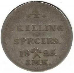 Moneta > 4skilling, 1825 - Norwegia  - reverse