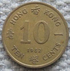 Moneta > 10centų, 1982-1984 - Honkongas  - obverse