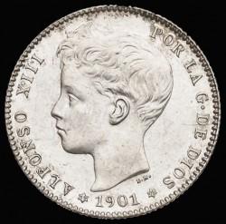 Moeda > 1peseta, 1896-1902 - Espanha  - obverse