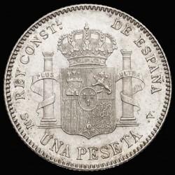 Moeda > 1peseta, 1896-1902 - Espanha  - reverse