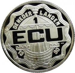 Moneta > 1ECU, 1990 - Paesi Bassi  (1000° anniversario - Zecca di Deventer) - obverse