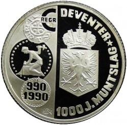 Moneta > 1ECU, 1990 - Paesi Bassi  (1000° anniversario - Zecca di Deventer) - reverse