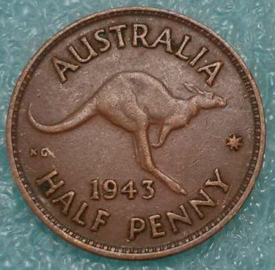 ½ penny 1939-1948, Australia - Coin value - uCoin net