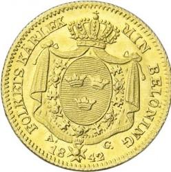 Mynt > 1dukat, 1835-1843 - Sverige  - reverse