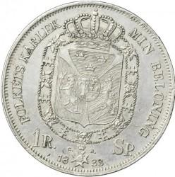 Монета > 1риксдалерспесие, 1831-1842 - Швеция  - reverse