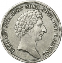 硬币 > 1瑞斯代勒斯贝, 1831-1842 - 瑞典  - obverse