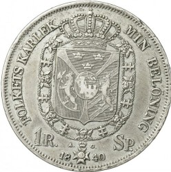 硬币 > 1瑞斯代勒斯贝, 1831-1842 - 瑞典  - reverse