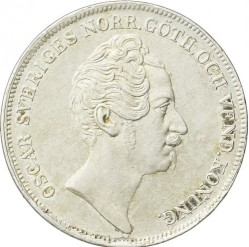 硬币 > 1瑞斯代勒斯贝, 1845-1855 - 瑞典  - obverse