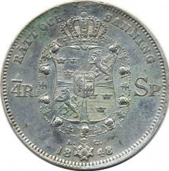 Mynt > ¼riksdalerspecie, 1846-1848 - Sverige  - reverse