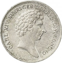 Монета > 1/12ригсдалерспесие, 1831-1833 - Швеция  - obverse