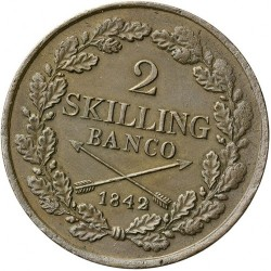 Монета > 2скилингбанко, 1835-1843 - Швеция  - reverse