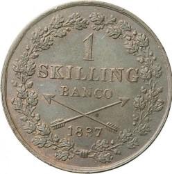 Mynt > 1skillingbanco, 1835-1843 - Sverige  - reverse