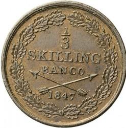 Mynt > ⅓skillingbanco, 1844-1855 - Sverige  - reverse