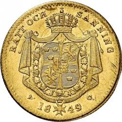 Pièce > 1ducat, 1845-1859 - Suède  - reverse