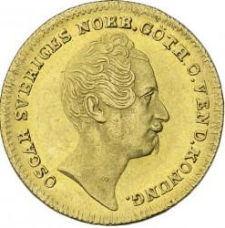 מטבע > 1דוקאט, 1845-1859 - שוודיה  - obverse